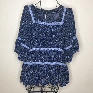 Free People floral boho peasant top #155